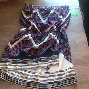 Express strapless dress size L
